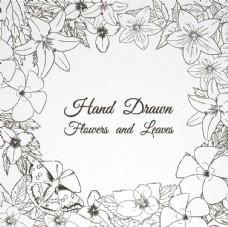 手绘花卉框架