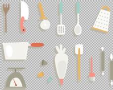 各种厨房用品厨具免抠png透明图层素材