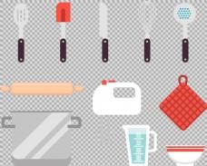 各种厨房物品厨具免抠png透明图层素材