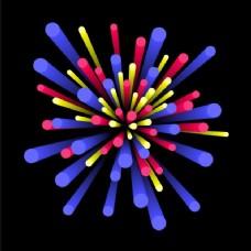 具有丰富3D元素的创意抽象背景,爆炸或爆炸效果。