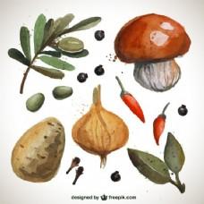 手绘蔬菜系列