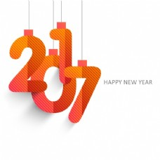带条纹2017的新年背景