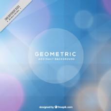 圆形几何形状的蓝色几何背景
