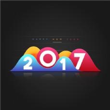 色彩几何形式的新年背景