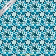 蓝色几何镶嵌背景