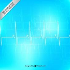 心电图的背景