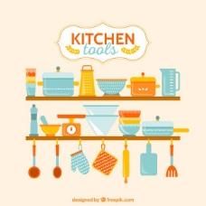 丰富多彩的厨房用具