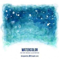 水彩背景的蓝色调