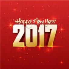 红色背景,新年闪亮