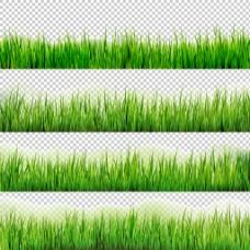 绿色草地装饰图案免抠png透明图层素材