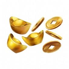 金币元宝元素