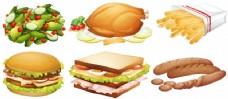 多种食品插画