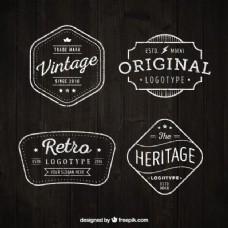 在平面设计集复古标志