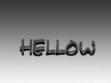 HELLOW纹理字体