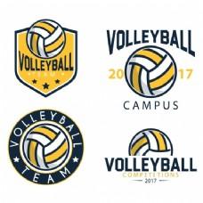 排球logo模板