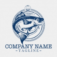 鱼logo模板