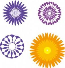 由形状组成的花