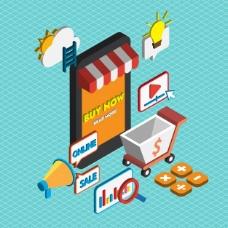 等距图中的网络营销概念阐释