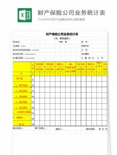 财产保险公司业务统计表自动Excel文档