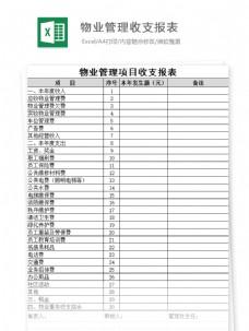 物业管理收支报表(公示)Excel文档