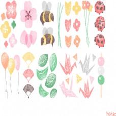 卡通花朵气球设计素材合集