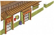 古典房屋插画