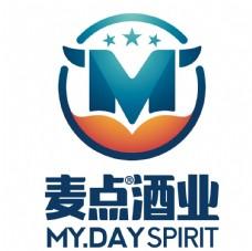 麦点酒业logo