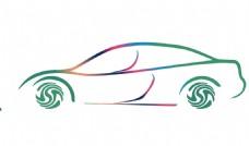 车渐变彩色logo