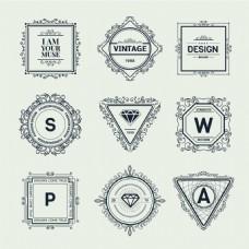 创意 华丽装饰Logo设计矢量