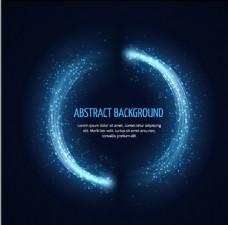 圆形光效旋转粒子背景矢量素材