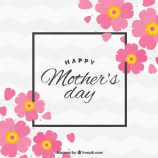 母亲节与花艺背景在平面设计