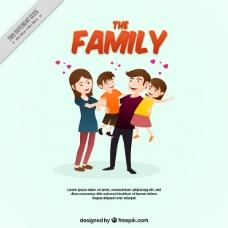 可爱的家庭背景