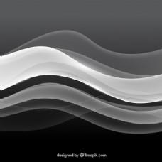 灰色背景下的波状背景