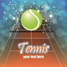 网球创意海报矢量素材