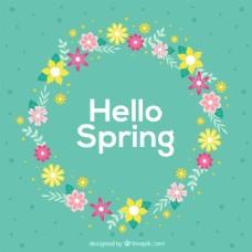 春天的花环