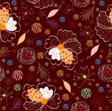 植物花纹背景素材