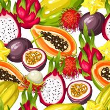 热带水果背景
