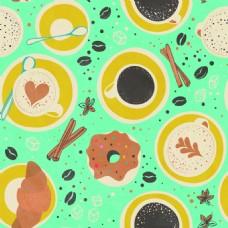 甜甜圈海报填充平铺背景矢量设计