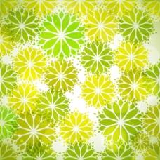 绿色抽象花朵装饰图案背景