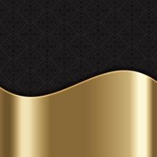 优雅时尚金色波纹锦缎图案背景