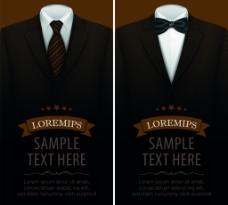西装服饰卡片海报背景矢量素材