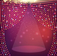 漂亮紫色舞台背景图