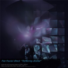 黑暗中的方形墙背景图