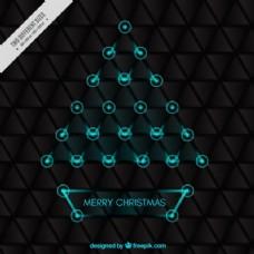 几何形圣诞背景