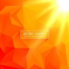 用几何图形制作的橙色背景