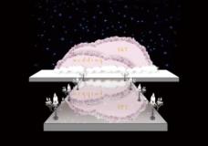 粉色圆弧婚礼效果