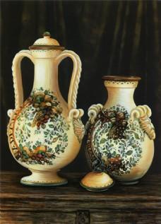 彩绘瓷器装饰画