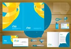 蓝色时尚VI设计图片
