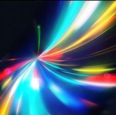 璀璨彩色流光线条背景矢量素材