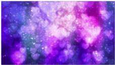 紫色心形梦幻光斑背景